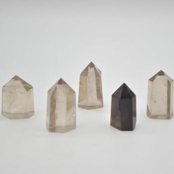 Natural Smoky Quartz Gemstone Point / Tower / Wand  - 1 Count - 3cm - 5cm