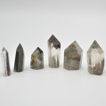 Natural Green Phantom Quartz Gemstone Point / Tower / Wand  - 1 Count - 3cm - 4cm