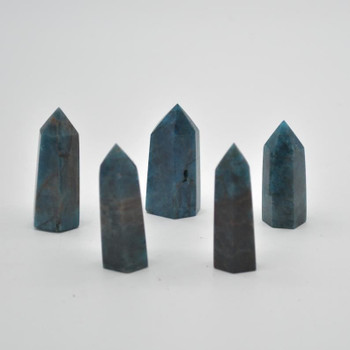 Natural Blue Apatite Gemstone Point / Tower / Wand  - 1 Count - 4cm - 5cm