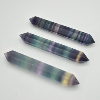 Rainbow Fluorite Double Terminated Point / Tower / Wand - 1 Count - approx 9cm - 10cm