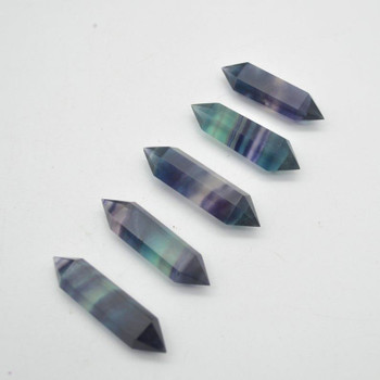 Rainbow Fluorite Double Terminated Point / Tower / Wand - 1 Count - approx 4cm - 5cm