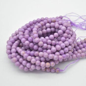 """High Quality Grade A Natural Phosphosiderite Semi-precious Gemstone Round  Beads - 4.5mm - 15.5"""" strand"""