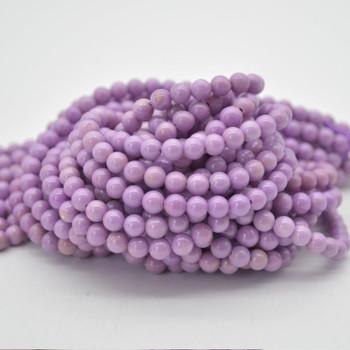"""High Quality Grade A Natural Phosphosiderite Semi-precious Gemstone Round  Beads - 5.5mm - 15.5"""" strand"""
