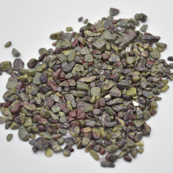 Natural Dragon Blood Jasper Gemstone Tumblestone Chips - 100g - 4mm - 12mm