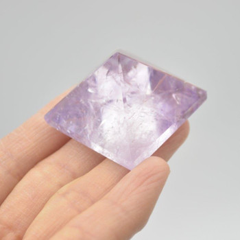 Natural Brazilian Amethyst Semi-precious Gemstone Pyramid - 1 Count - 3cm x 3cm - 32 grams #01