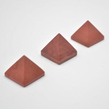Natural Red Jasper Semi-precious Gemstone Pyramid - 1 Count - 2.5cm - 3cm x 3cm - 25 - 30 grams