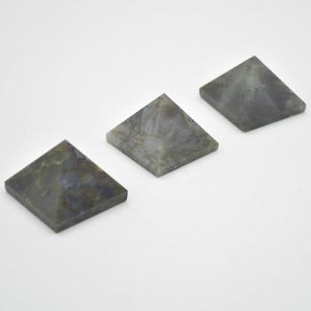 Natural Labradorite Semi-precious Gemstone Pyramid - 1 Count - 3cm - 3cm x 3cm - 35 - 40 grams