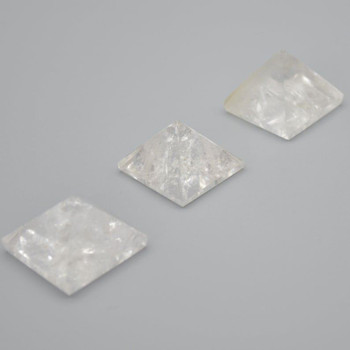 Natural Clear Quartz Semi-precious Gemstone Pyramid - 1 Count - 2.5cm - 3cm x 3cm - 25 - 30 grams