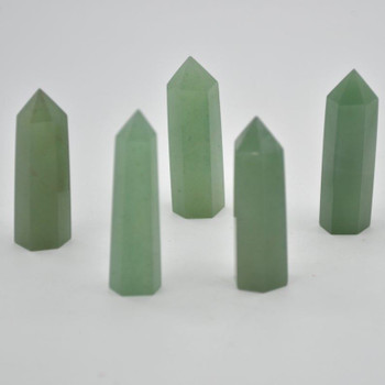 Natural Green Aventurine Semi-precious Gemstone Point / Tower / Wand  - 1 Count