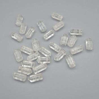 High Quality Grade A Natural Clear Quartz Semi-Precious Gemstone SINGLE Point Pendant Beads -  1.2cm, 1.5cm - 1 or 5 count