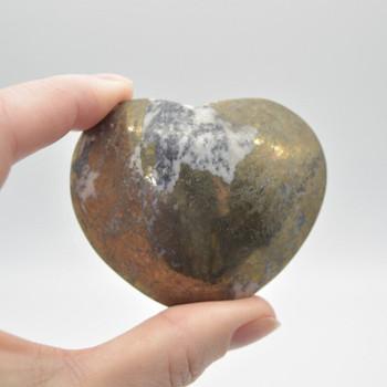 Pyrite Gemstone Heart - 174 grams - 5cm x 6cm x 3cm - 1 count