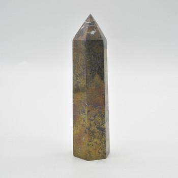 Pyrite Gemstone Point / Tower / Wand - 512 grams - 14.5cm x 4cm x 4cm - 1 count