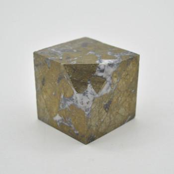 Pyrite Gemstone Cube - 276 grams - 4cm x 4cm x 4cm - 1 count