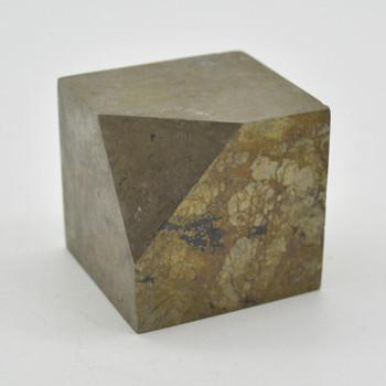 Pyrite Gemstone Cube - 327 grams - 4cm x 4cm x 4cm - 1 count