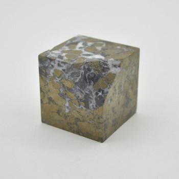 Pyrite Gemstone Cube - 275 grams - 4cm x 4cm x 4cm - 1 count