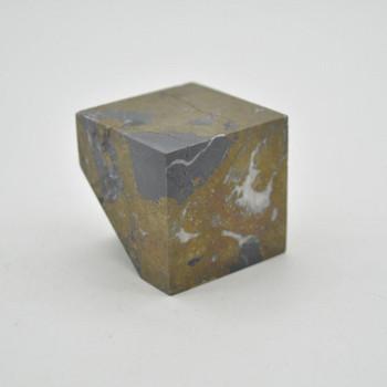 Pyrite Gemstone Cube - 309 grams - 4cm x 4cm x 4cm - 1 count