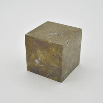 Pyrite Gemstone Cube - 344 grams - 4cm x 4cm x 4cm - 1 count