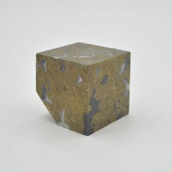 Pyrite Gemstone Cube - 289 grams - 4cm x 4cm x 4cm - 1 count