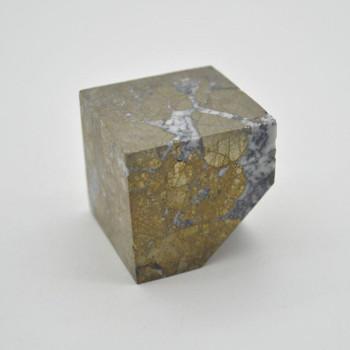 Pyrite Gemstone Cube - 280 grams - 4cm x 4cm x 4cm - 1 count