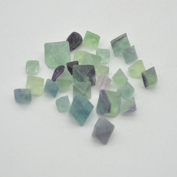 Natural Rainbow Fluorite Gemstone Tumblestone Diamond Shapes - approx 50g - approx 9mm - 15mm