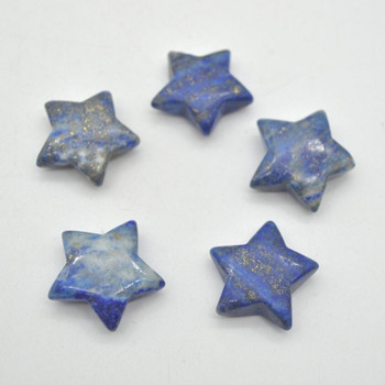 Natural Lapis Lazuli Semi-precious Gemstone Star - 3cm - 1 count