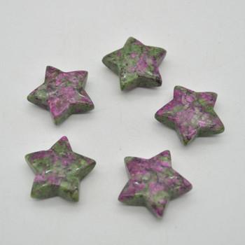 Natural Ruby Zoisite Semi-precious Gemstone Star - 3cm - 1 count