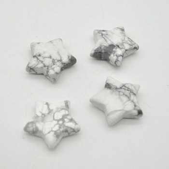 Natural White Howlite Semi-precious Gemstone Star - 3cm - 1 count