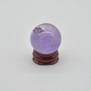 Natural Amethyst Semi-Precious Gemstone Sphere Ball - 35 grams - 3cm - 1 Count - #04