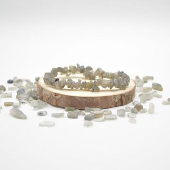 Labradorite Gemstone Chip Bracelet / Beads Sample strand