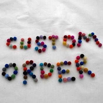 Mea - custom order - 1 felt ball per size