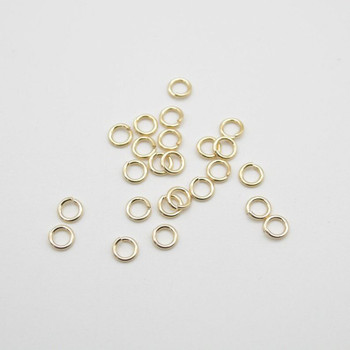 14K Gold Filled Findings - Gold Filled Click and Lock Jump Ring - 0.89mm x 5mm - 6 Count - Made in USA