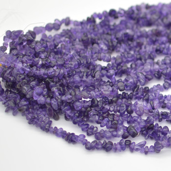"""Natural Amethyst Beads Chips - 36"""" Strand"""