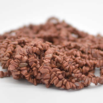 "Goldstone Beads Chips - 36"" Strand"