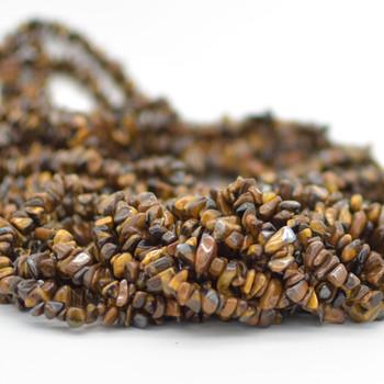 "36"" Strand Natural Tiger's / Tiger Eye Beads Chips"