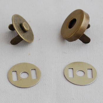 10 Sets Magnetic Snap Button Bag Clasp - 18mm - Antique Bronze
