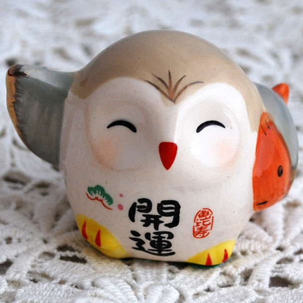 Japanese Feng Shui Lucky Owl - Good Luck Fish