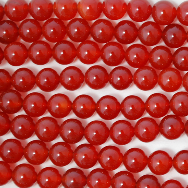 High Quality Grade A Carnelian Red Agate Semi-precious Gemstone Round Beads 4mm, 6mm, 8mm, 10mm
