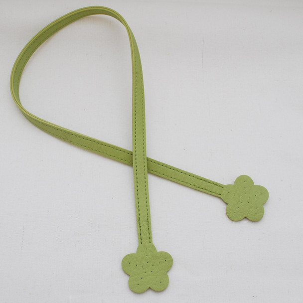 Sew In Bag Handles with Flower Ends - Black Green Pink Red - 60cm