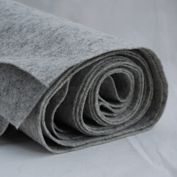 100% Wool Felt Fabric - Approx 1mm Thick - Natural Light Grey