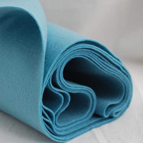 100% Wool Felt Fabric - Approx 1mm Thick - Dusty Light Blue - 40cm x 50cm