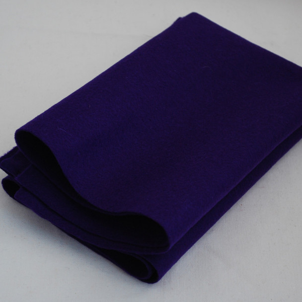 100% Wool Felt Fabric - Approx 1mm Thick - Purple