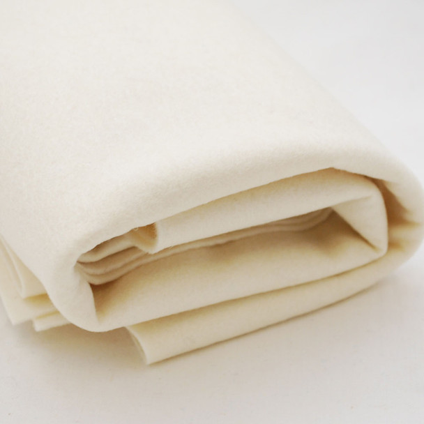 100% Wool Felt Fabric - Approx 1mm Thick - Light Cream - 40cm x 50cm