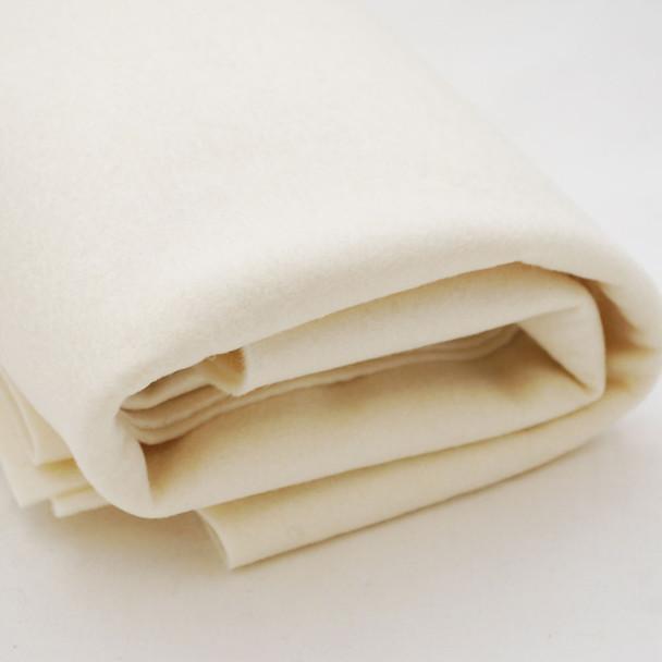 100% Wool Felt Fabric - Approx 1mm Thick - Light Cream