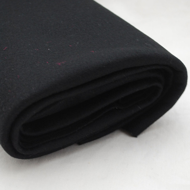 100% Wool Felt Fabric - Approx 1mm Thick - Black - 40cm x 50cm