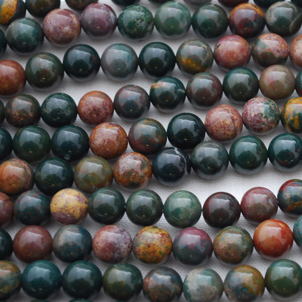 High Quality Grade A Natural Bloodstone Semi-precious Gemstone Round Beads 4mm, 6mm, 8mm, 10mm,12mm