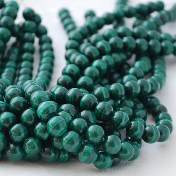 High Quality Grade A Natural Malachite Semi-precious Gemstone Round Beads 4mm, 6mm, 8mm, 10mm