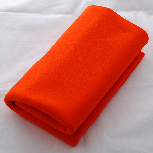 100% Wool Felt Fabric - Approx 1mm Thick - International Orange