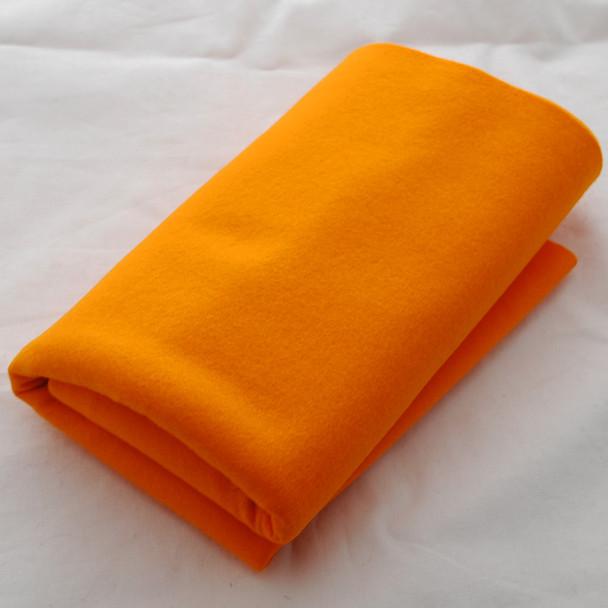 100% Wool Felt Fabric - Approx 1mm Thick - Orange