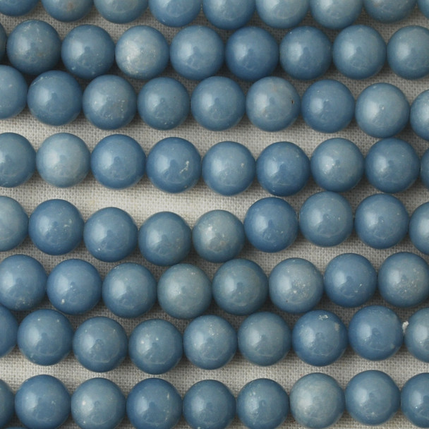 High Quality Grade A Natural Angelite (blue) Gemstone Round Beads 4mm, 6mm, 8mm, 10mm size