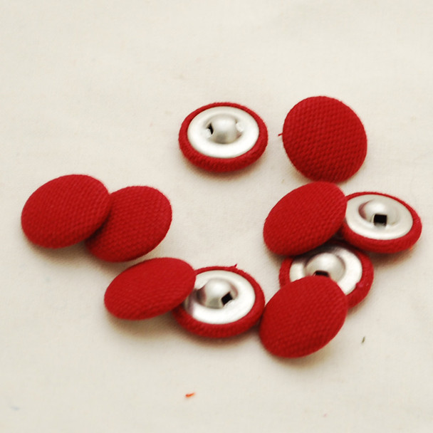 100 Fabric Covered Buttons - Dark Red - 1.4cm, 2cm, 2.8cm sizes